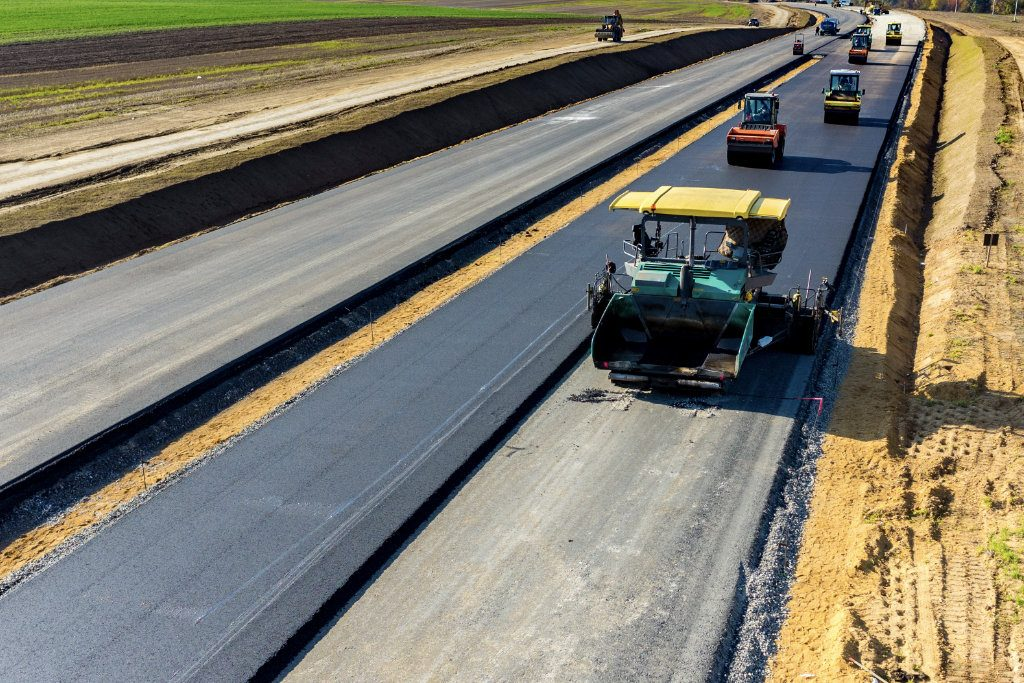 asphalt paving a highway