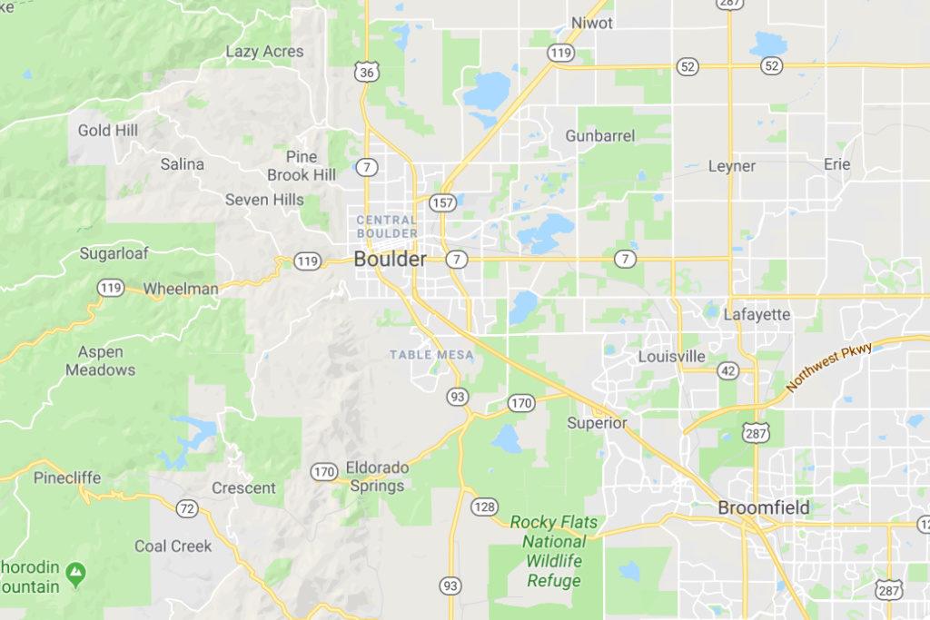 Boulder Colorado Service Area Map