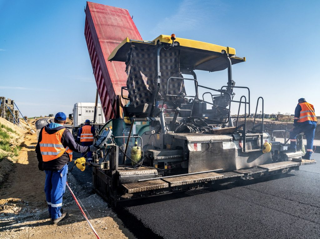 commercial highway paving