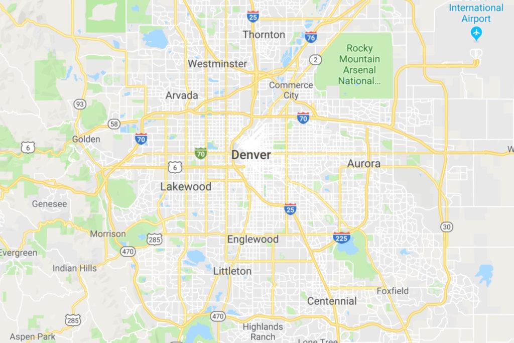 Denver Colorado Service Area Map