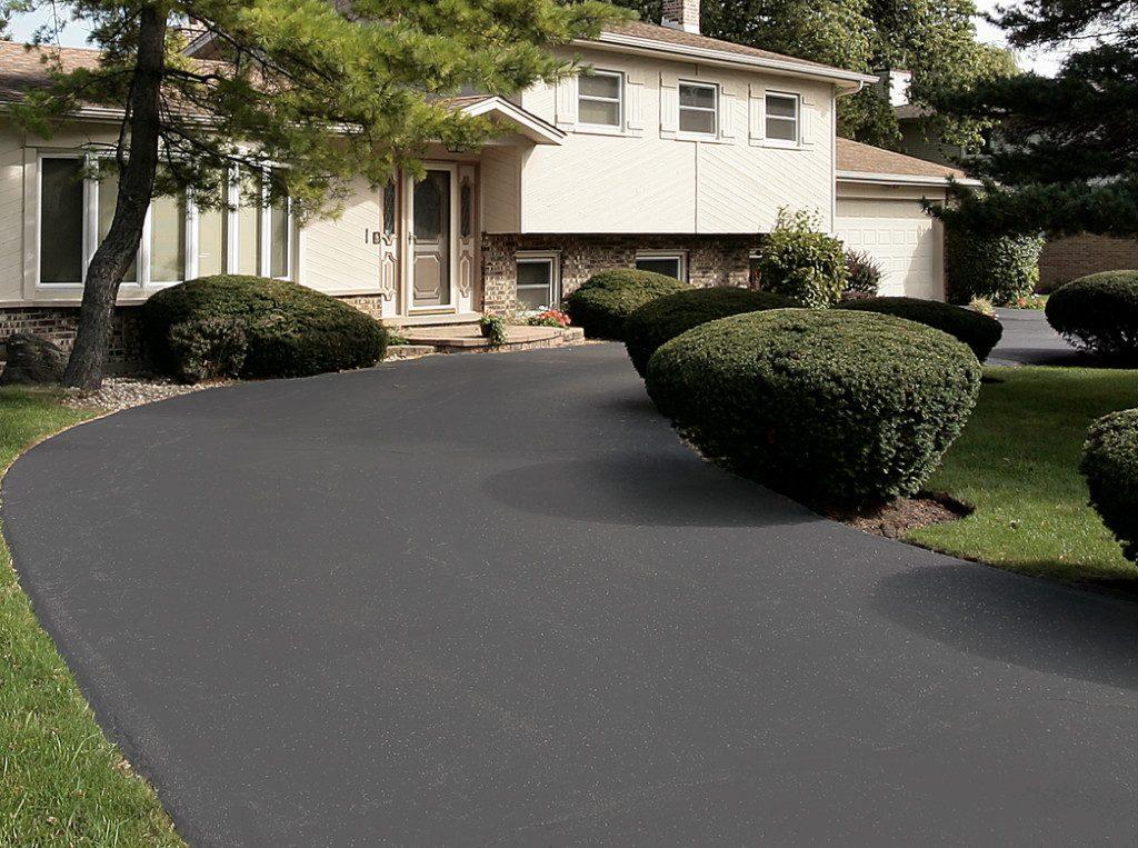 fresh driveway pavement