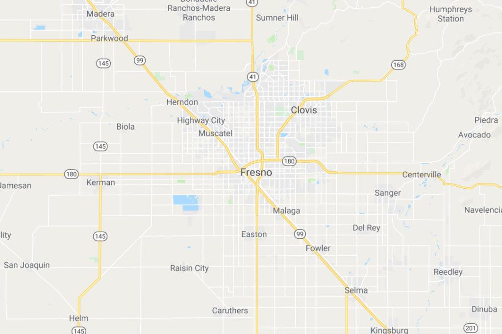 Fresno California Service Area Map