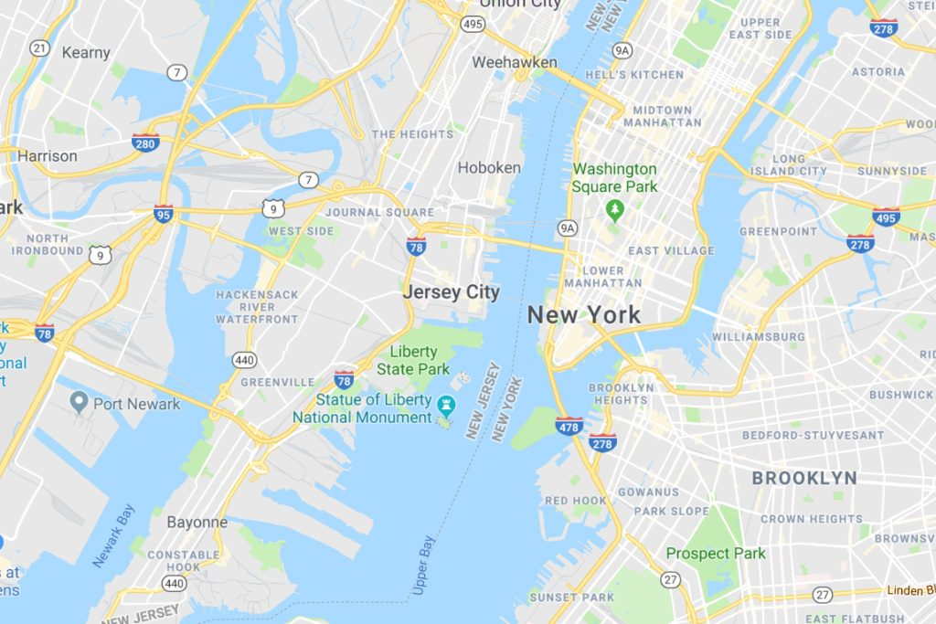 Jersey City New Jersey Service Area Map