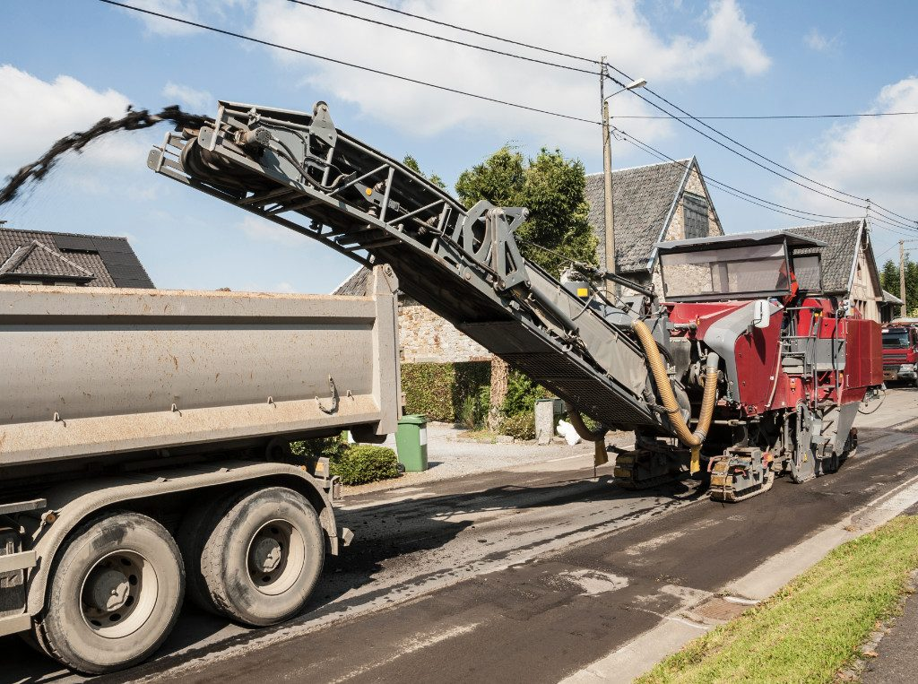 municipal concrete road milling