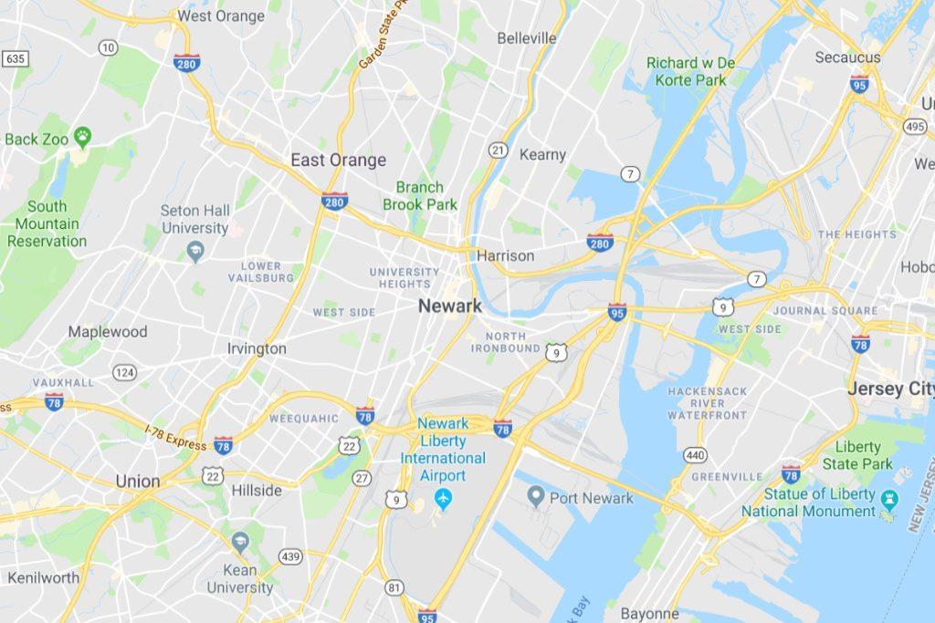 newark new jersey service area map