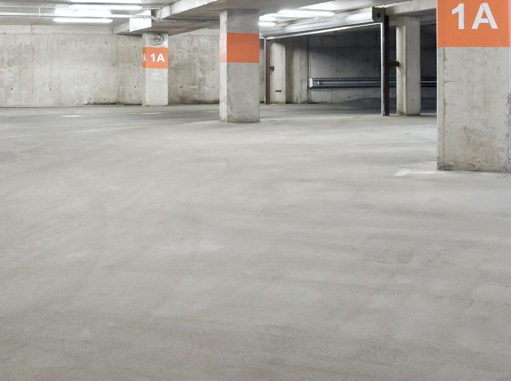 parking garage cement floor