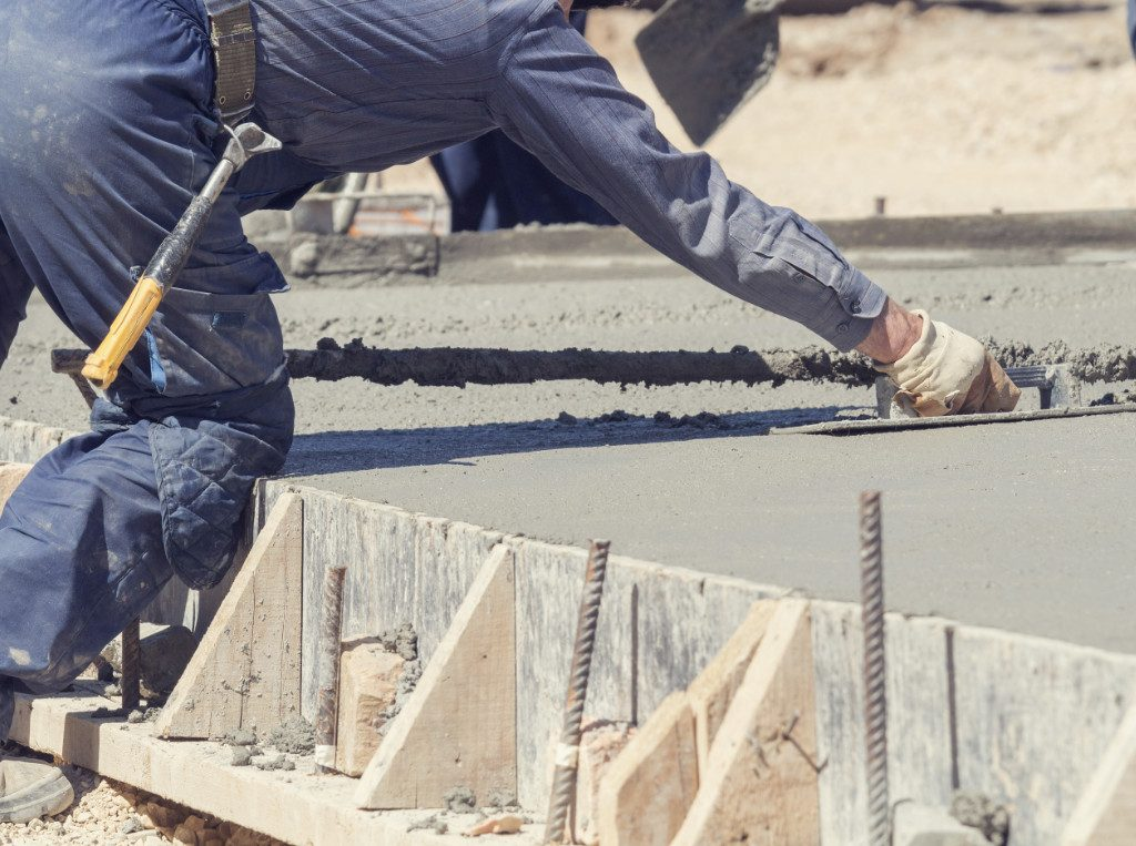 smoothing foundation concrete