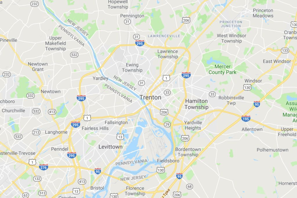 Trenton New Jersey Service Area Map