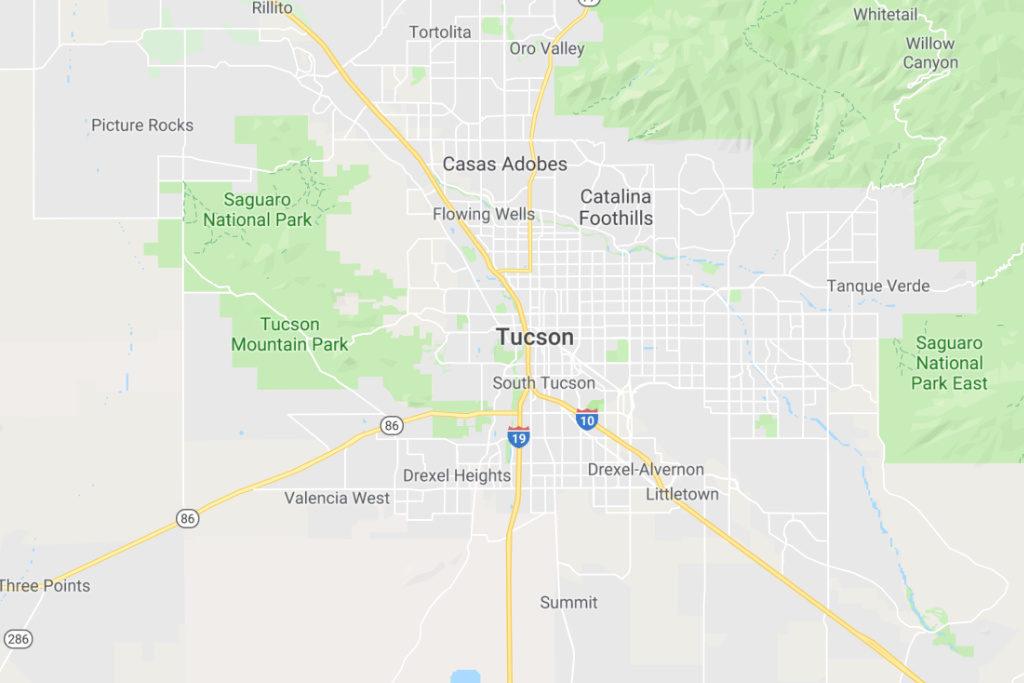 Tucson Arizona Service Area Map