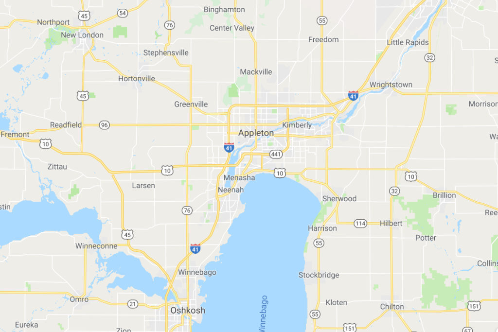 Appleton Wisconsin Service Area Map