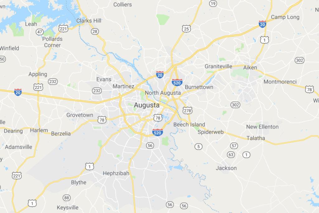 Augusta Georgia Service Area Map
