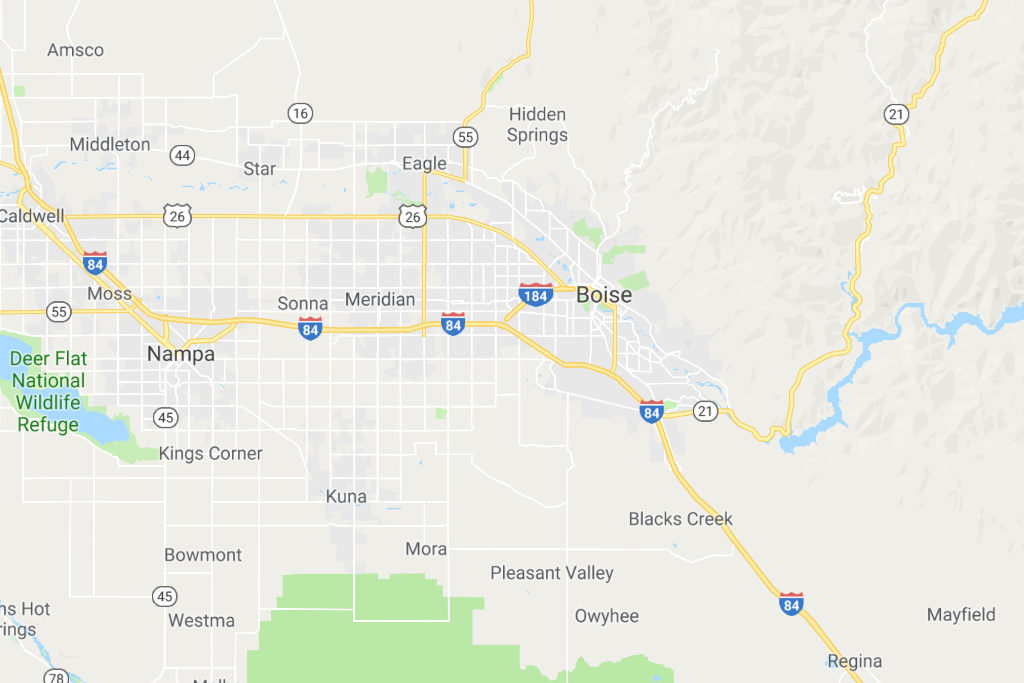 Boise Idaho Service Area Map