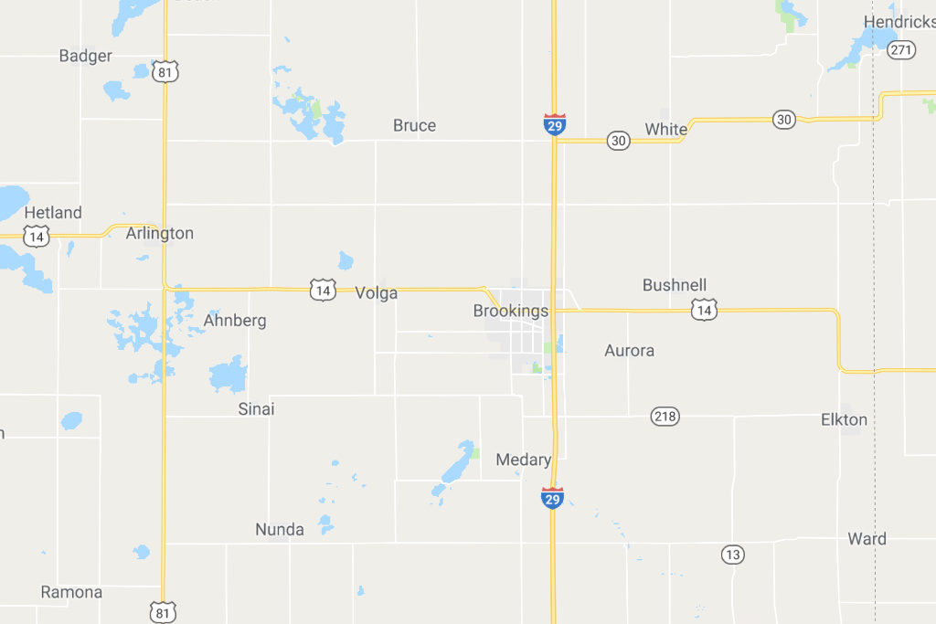 Brookings South Dakota Service Area Map