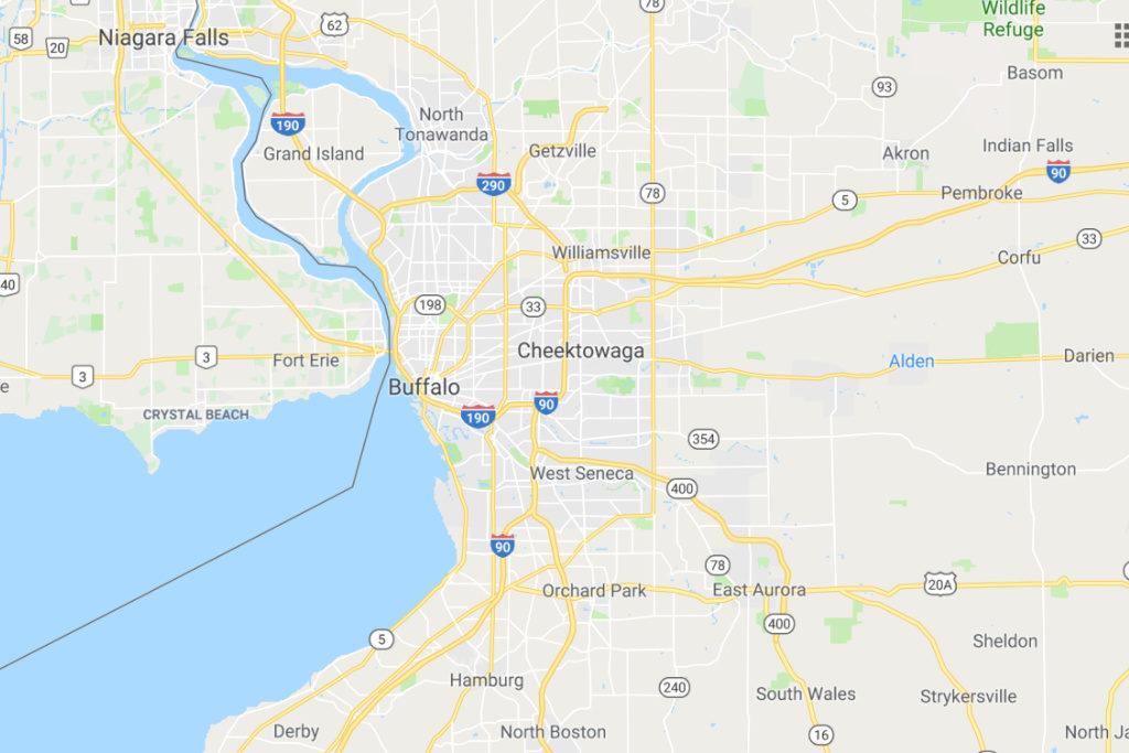 Buffalo New York Service Area Map