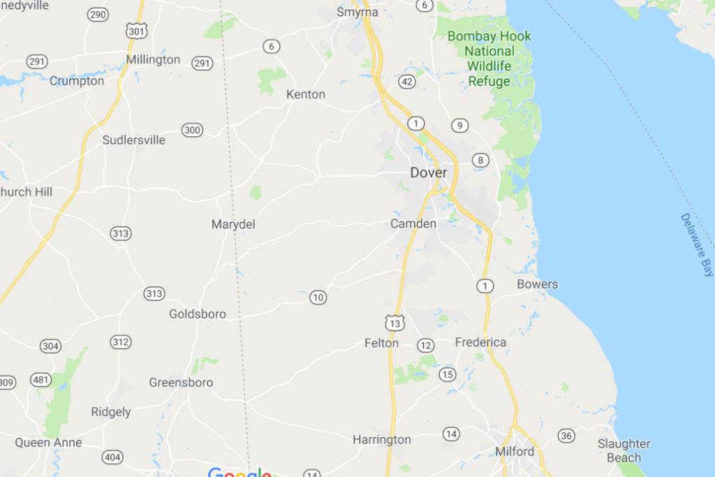 Dover Delaware Service Area Map