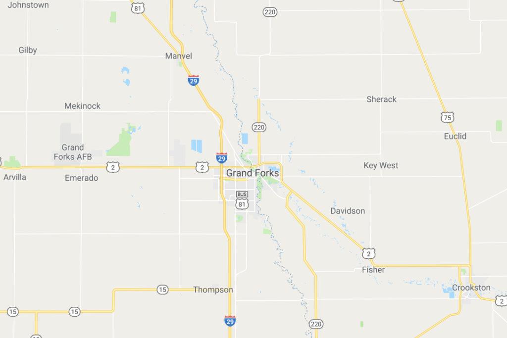 Grand Forks North Dakota Service Area Map