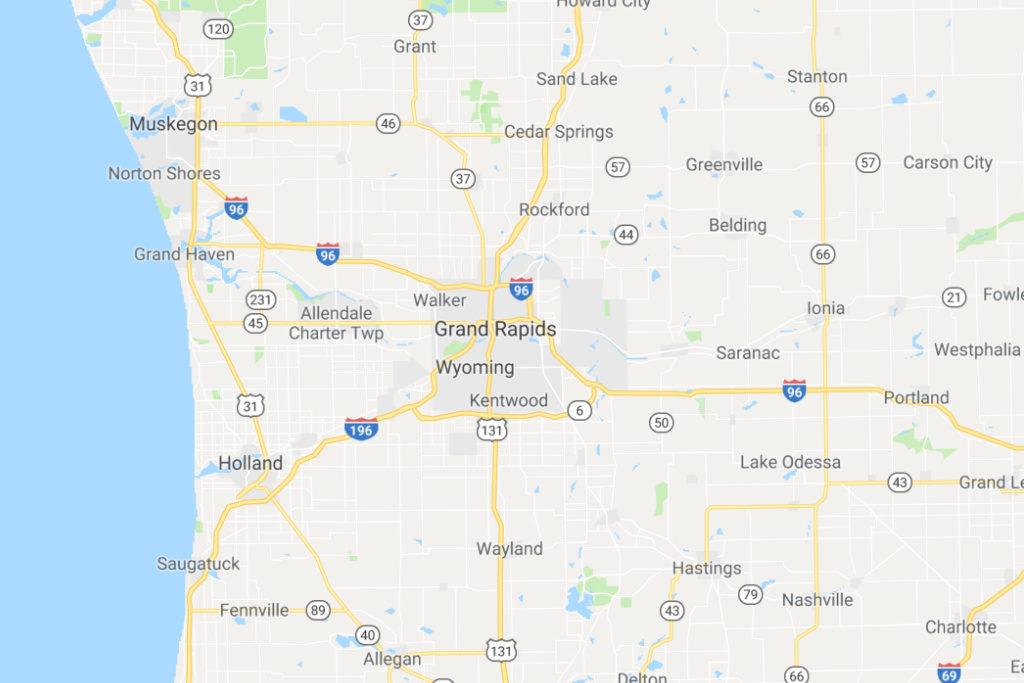 Grand Rapids Michigan Service Area Map