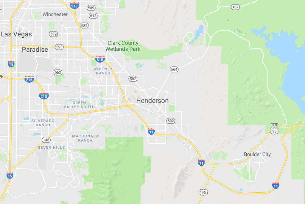 Henderson Nevada Service Area Map
