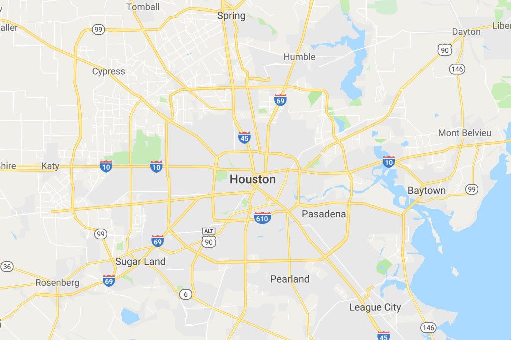 Houston Texas Service Area Map