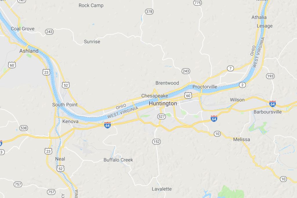 Huntington West Virginia Service Area Map