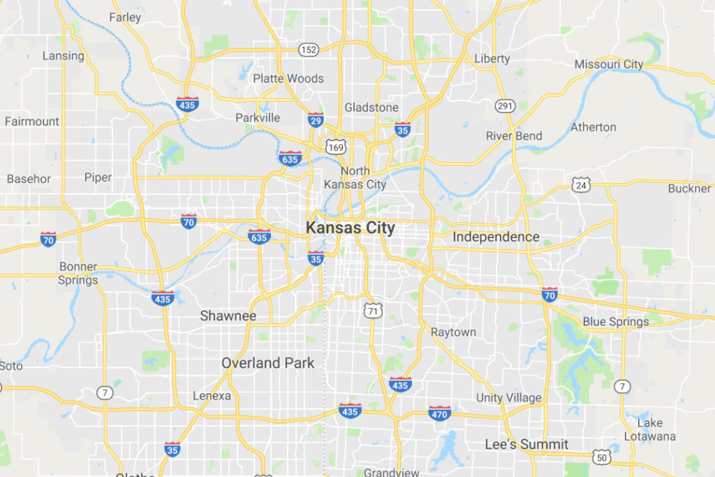 Kansas City Kansas Service Area Map