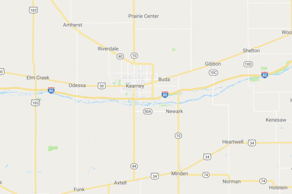 Kearney Nebraska Service Area Map