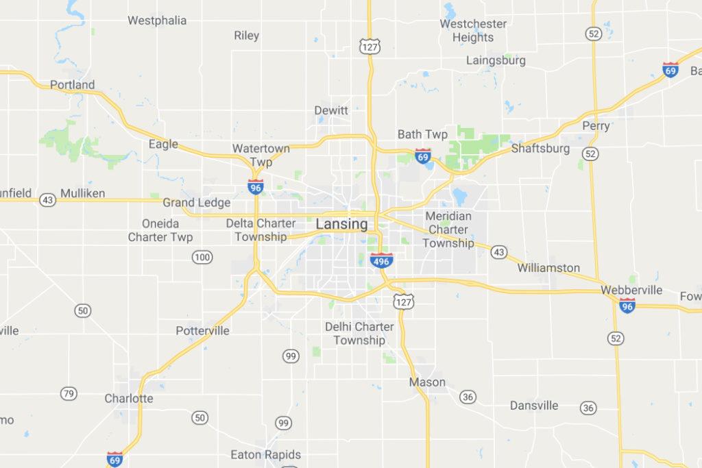 Lansing Michigan Service Area Map