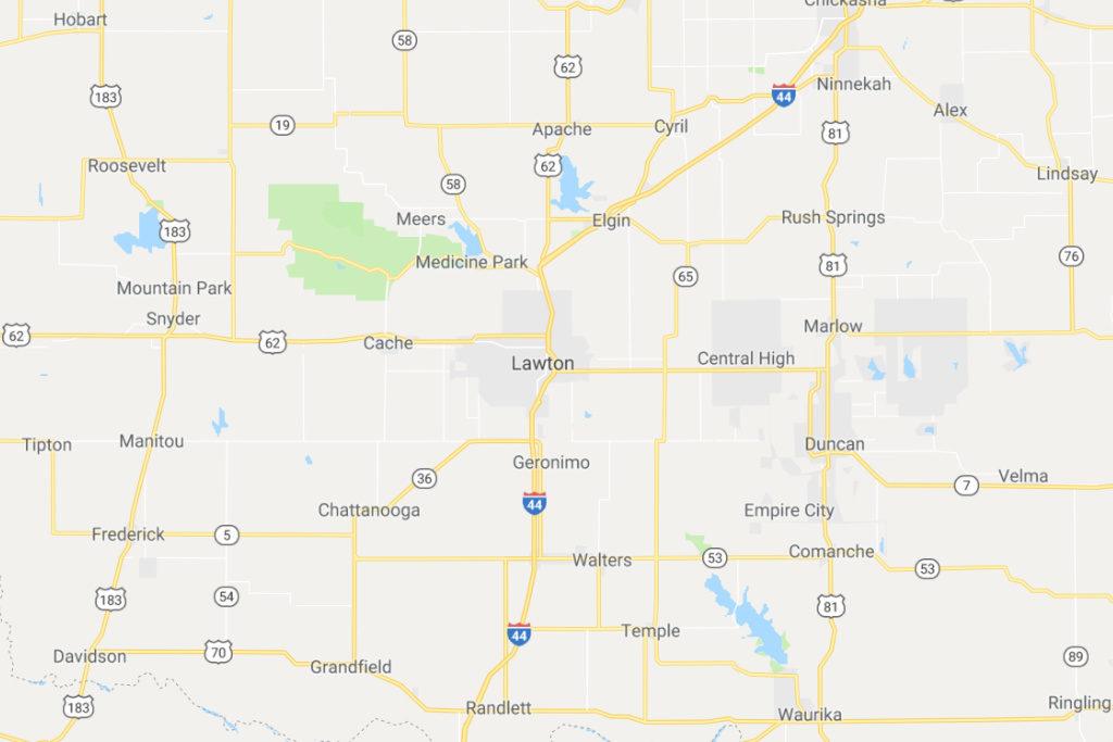 Lawton Oklahoma Service Area Map
