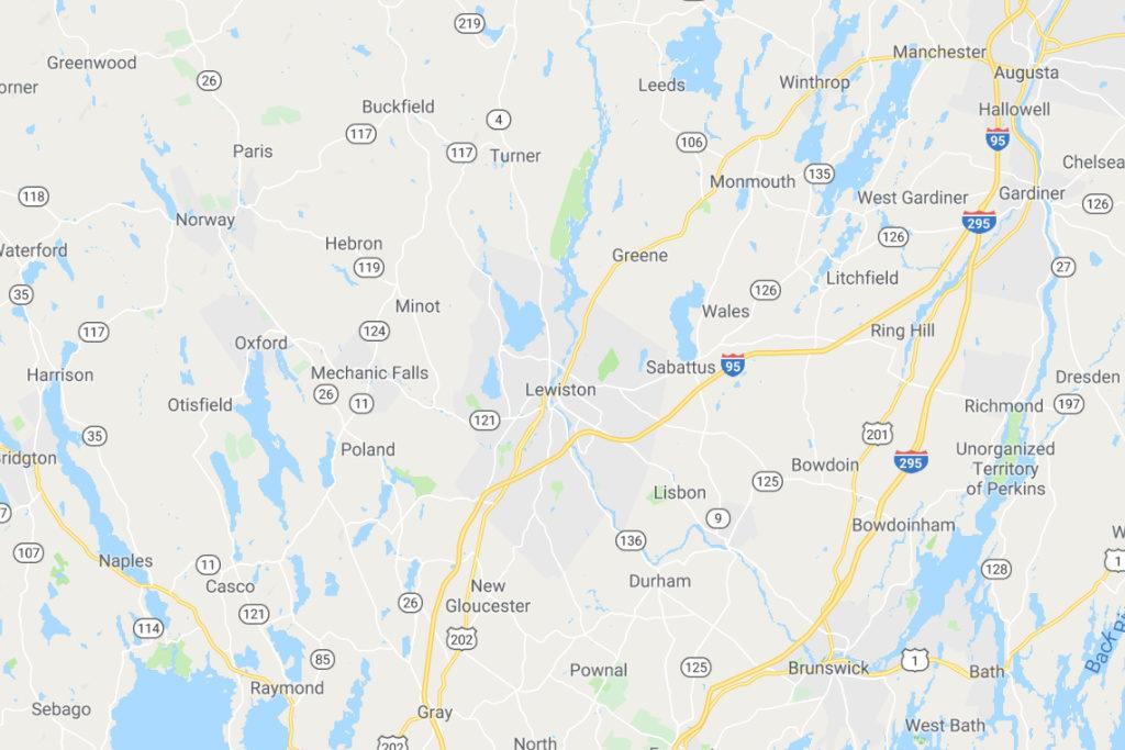 Lewiston Maine Service Area Map