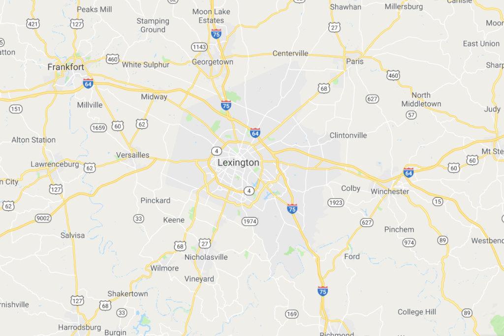 Lexington Kentucky Service Area Map