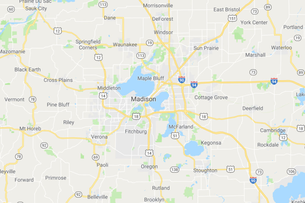 Madison Wisconsin Service Area Map