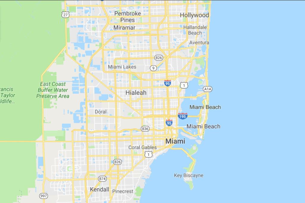 Miami Florida Service Area Map