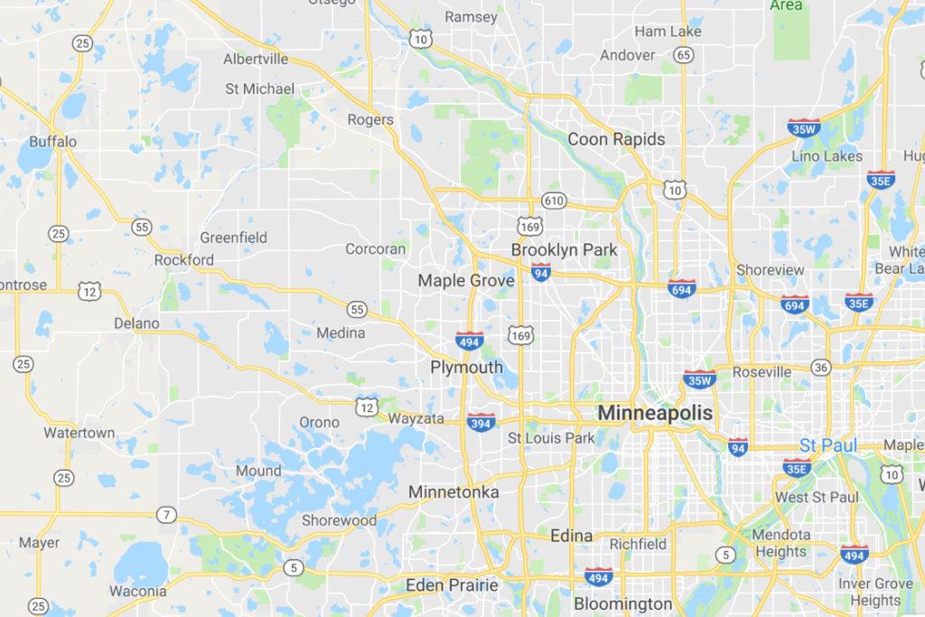 Minneapolis Minnesota Service Area Map