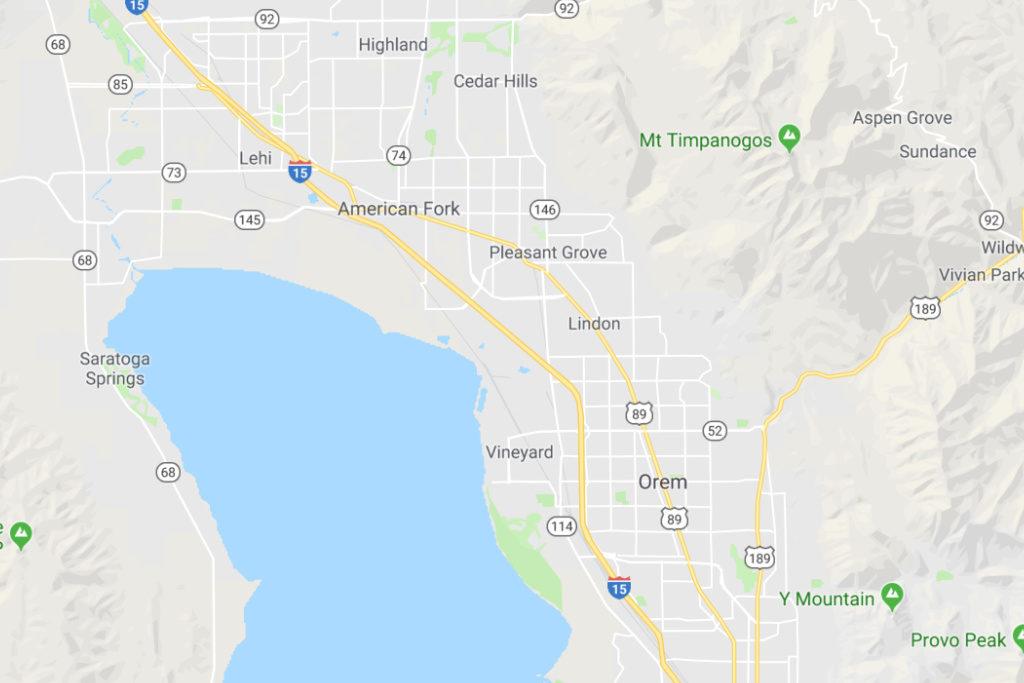 Orem Utah Service Area Map