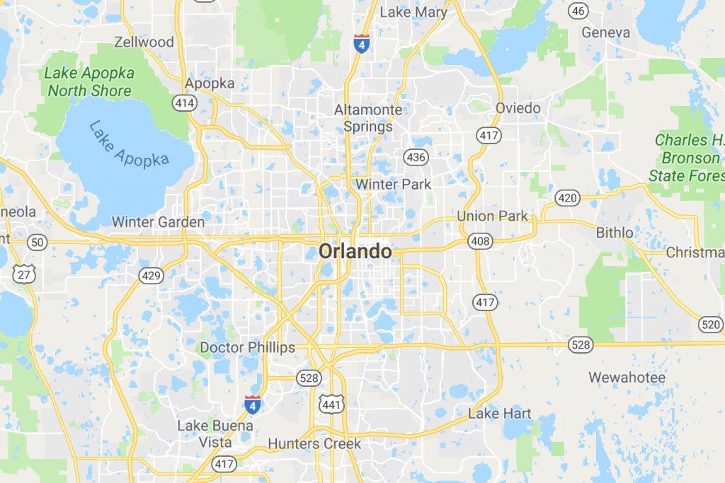 Orlando Florida Service Area Map