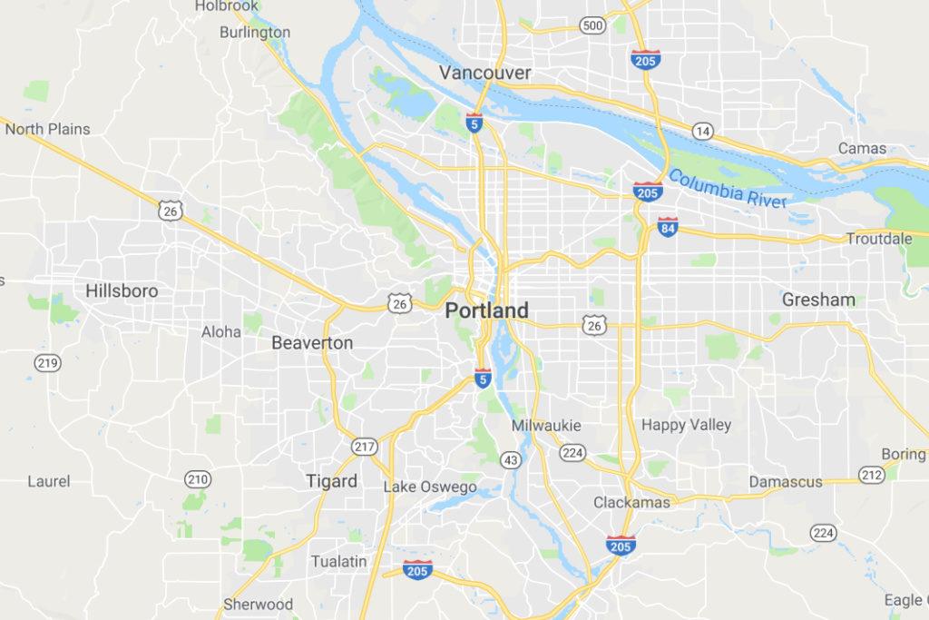 Portland Oregon Service Area Map