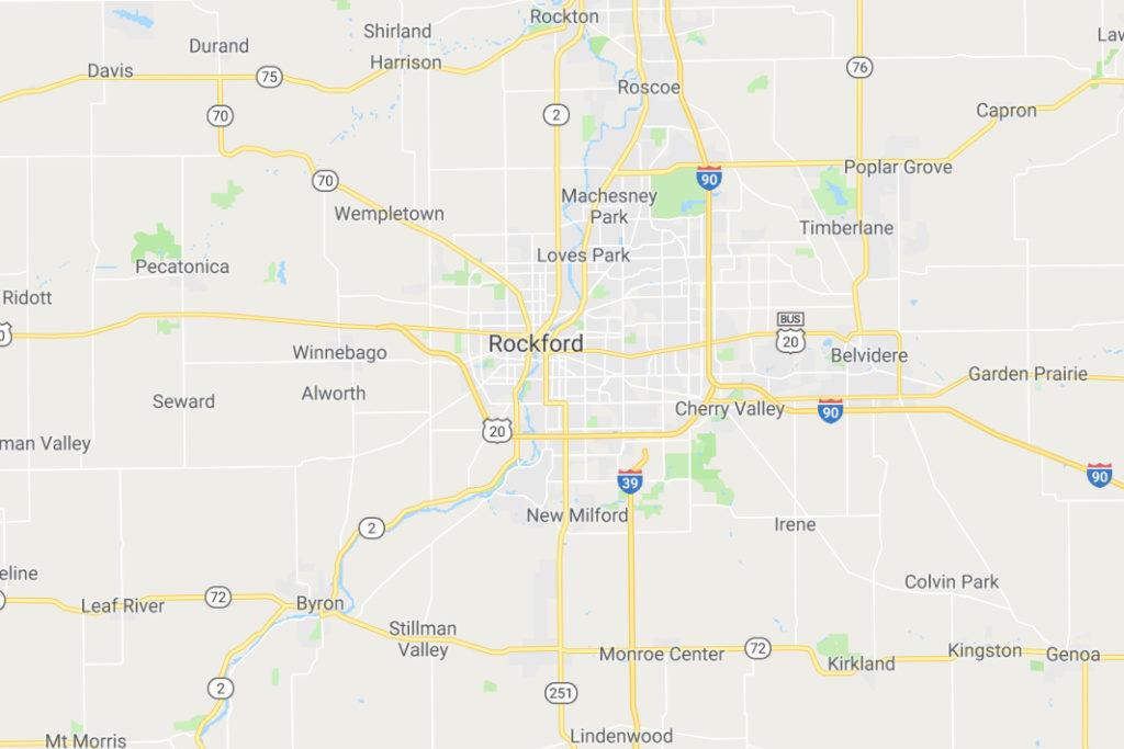 Rockford Illinois Service Area Map