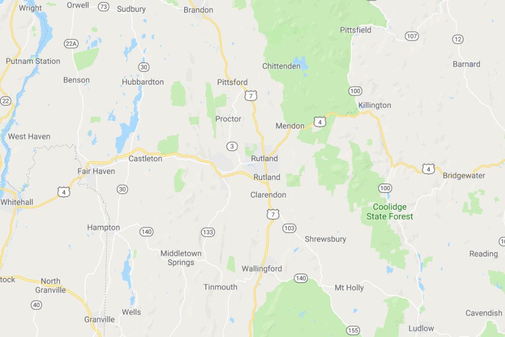 Rutland Vermont Service Area Map