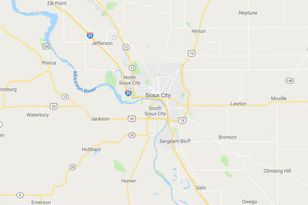 Sioux City Iowa Service Area Map