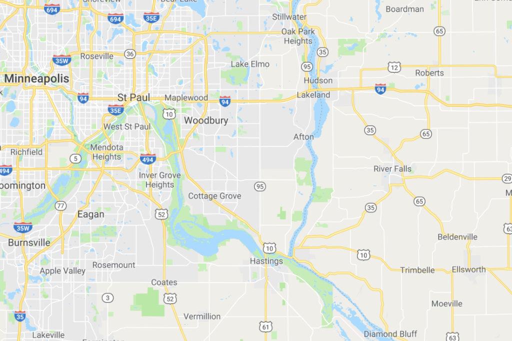 St Paul Minnesota Service Area Map
