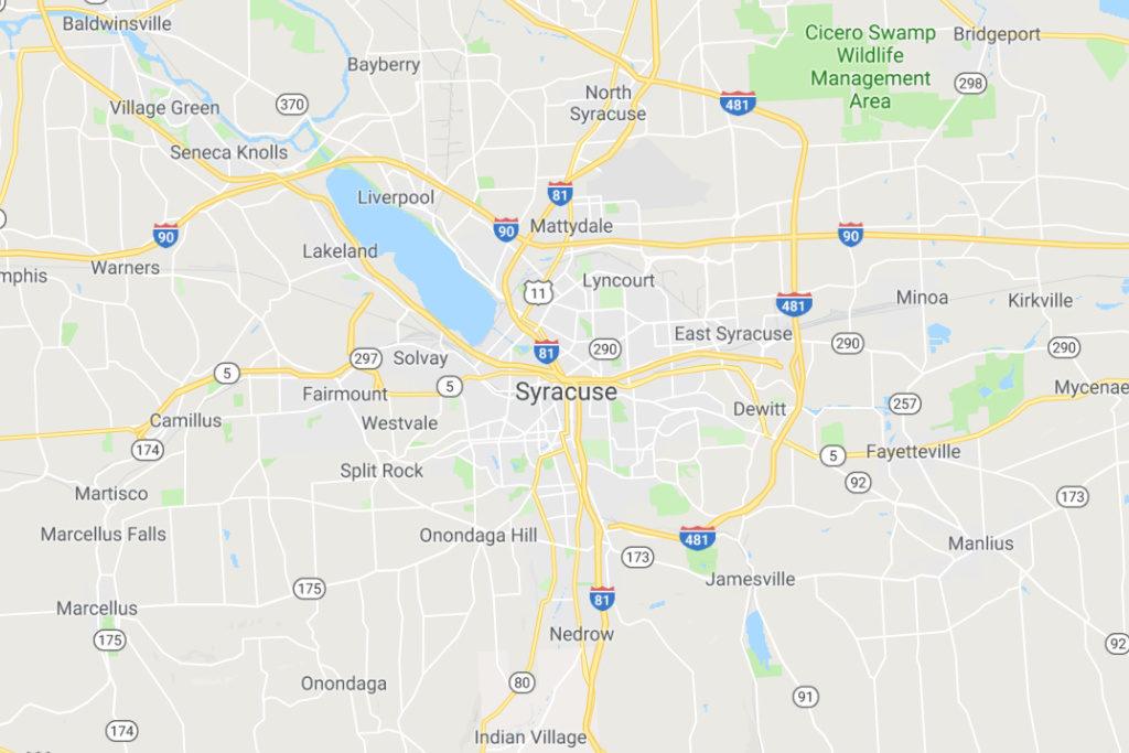 Syracuse New York Service Area Map