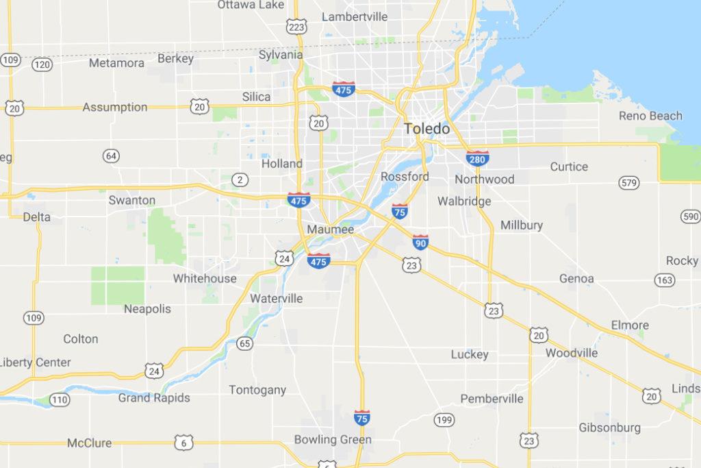 Toledo Ohio Service Area Map