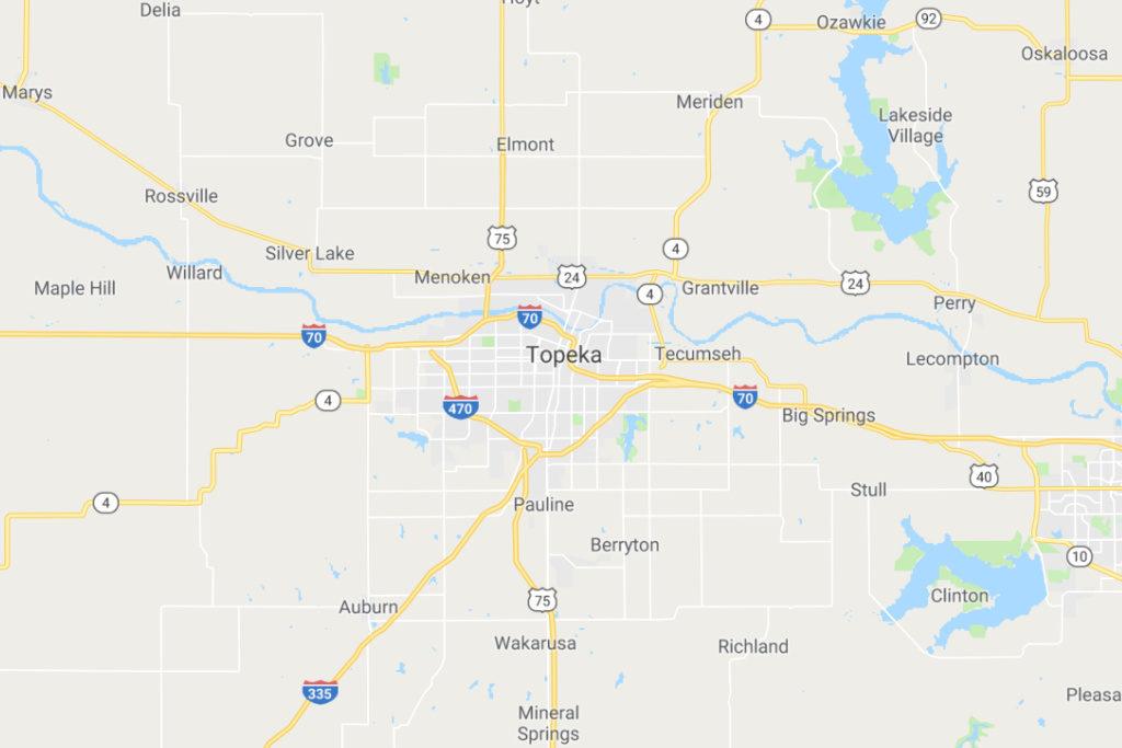 Topeka Kansas Service Area Map