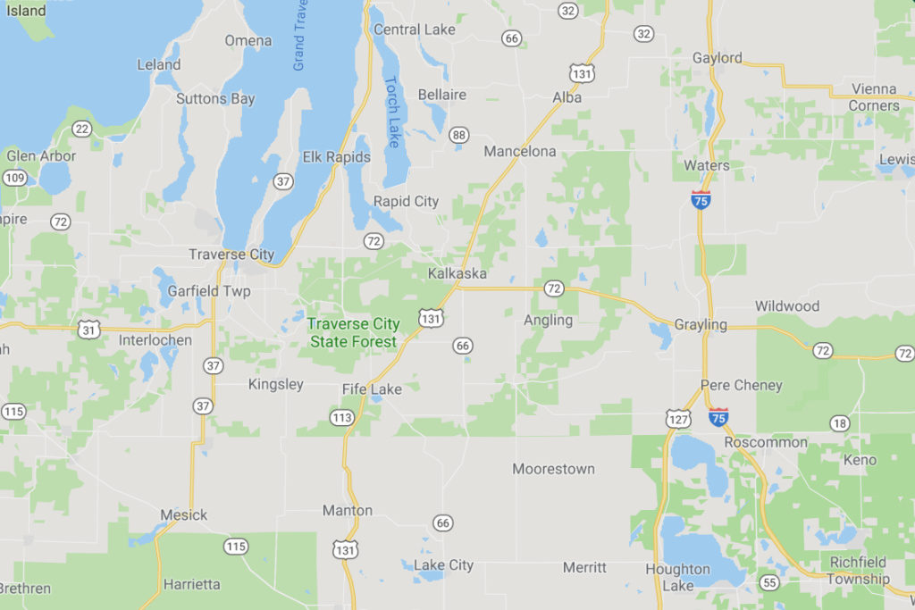 Traverse City Michigan Service Area Map