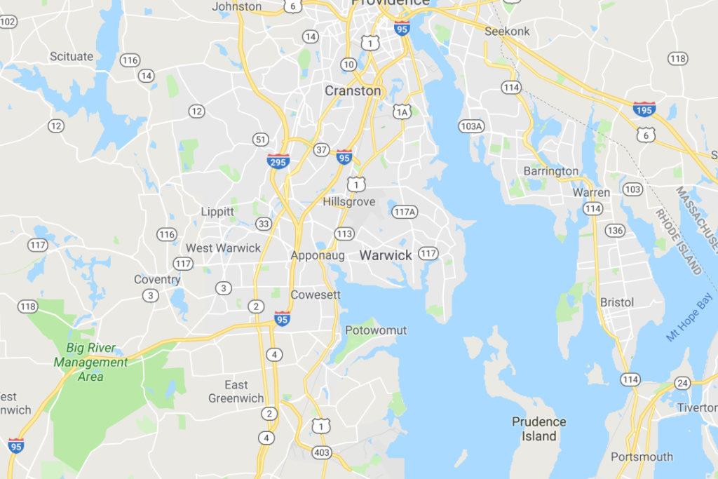 Warwick Rhode Island Service Area Map