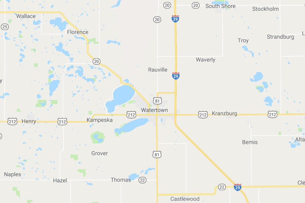 Watertown South Dakota Service Area Map