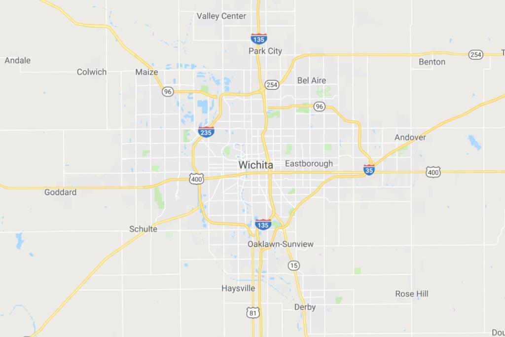 Wichita Kansas Service Area Map