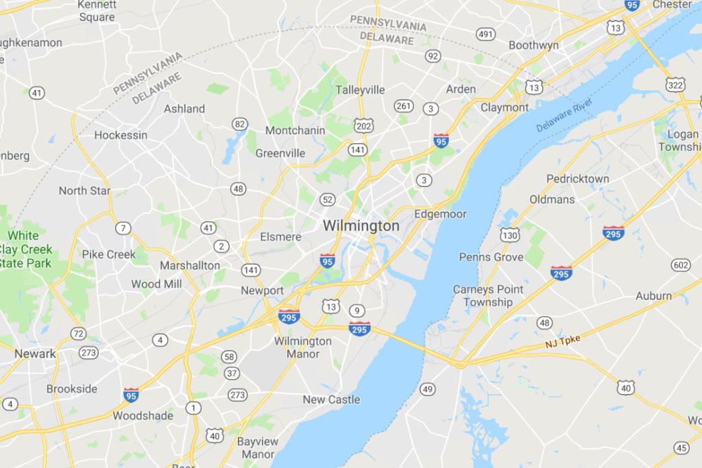 Wilmington Delaware Service Area Map